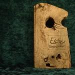 Eiche Holzbuch grau