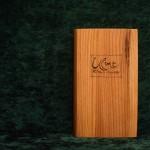 Ulme Holzbuch schlicht