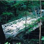 Brücke zur Festwiese im Bau