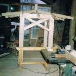 Ziehbrunnenhaus in der Werkstatt im Bau