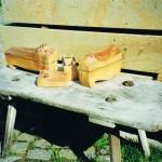 Dosen - drei aus einem Stück Holz,, einzeln