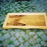 Holzbild, auf Pflaster