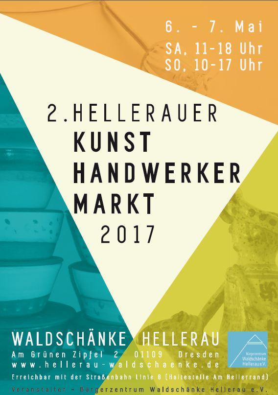 Flyer vom 2. Hellerauer Kunsthandwerkermarkt 2017