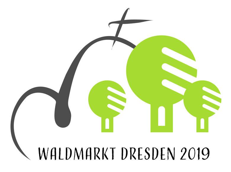 Das Logo des Dresdner Waldmarkts 2019