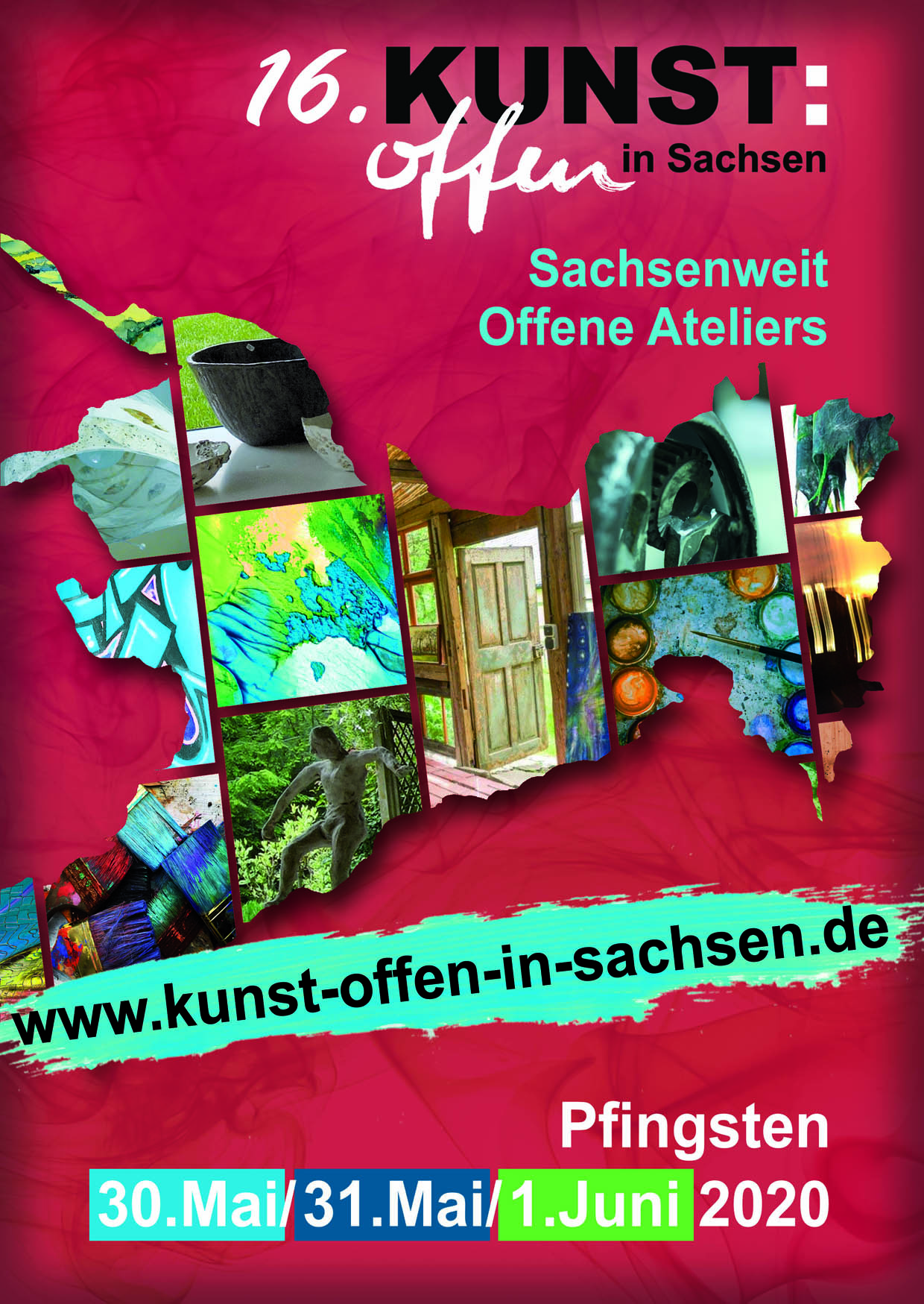 Plakat zu KUNST:offen in Sachsen 2020